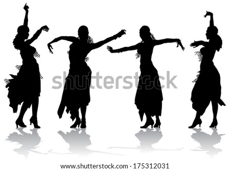 bd8083fd0b61 Royalty Free Stock Illustration of Young Girl Dancing Stock ...
