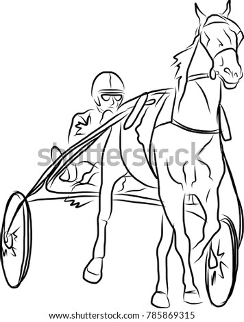 Young Horseman On Show Jumping Competition Stock Illustration