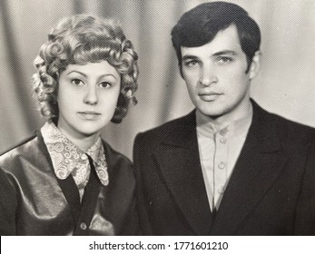 Young Jewish married couple vintage retro photo 1980s