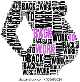 Young mother or pregnant woman rights in work.