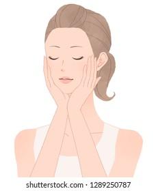 Young woman enjoying a massage