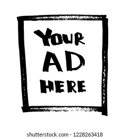 Your Ad Here. Lettering, Comic design for t-shirt or poster