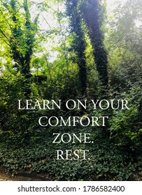 Your comfort zone quote on photo