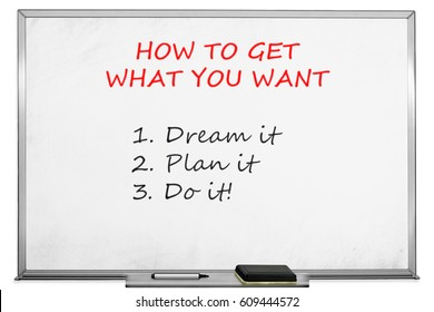 Your Goals with marker on transparent wipe board.