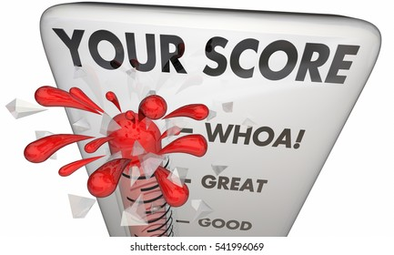 Your Score Thermometer High Level Winner 3d Illustration