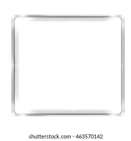 your text here blank silver border