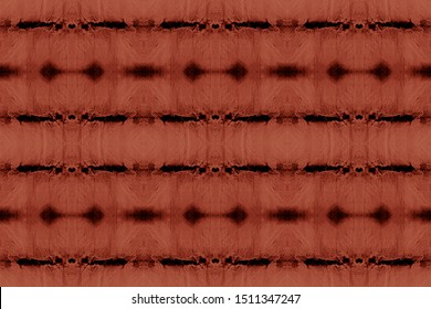 Youthful Stripes. Taupe Effect Pattern. Brown Stripe Repeat. Seamless Modern Pattern Ikat. Shibori Dyeing. Space Dyed Fabric. Earth Tones Wallpaper Texture. Tobacco Japanese Ikat.