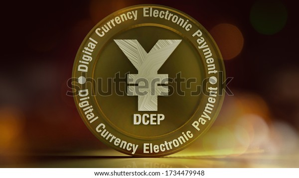 yuan symbol on gold coins 3d rendering for china Digital Currency Electronic Paymentcontent.