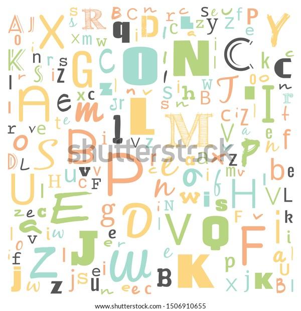 Z Word Cloud Multicolor Alphabet Word Stock Image Download Now