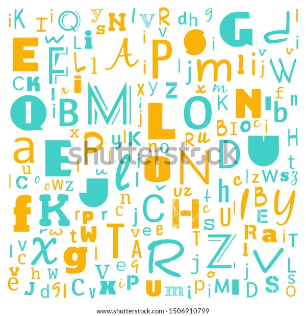 Z Word Cloud Multicolor Alphabet Word Royalty Free Stock Image