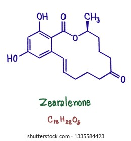 Zearalenone (ZEN), also known as RAL and F-2 mycotoxin, is a potent estrogenic metabolite produced by some Fusarium and Gibberella species. Particularly, is produced by Fusarium graminearum.