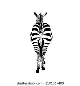 Zebra go away. Cool pictogram.