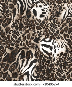 Zebra and leopard print..for textile, wallpaper, pattern fills, covers, surface, print, gift wrap, scrapbooking, decoupage.Seamless pattern