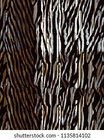 zebra pattern over dark gray  watercolor splashes. Bold hand drawn chevron pattern for sport fashion with animal motifs.  animal skins mixed and patchwork