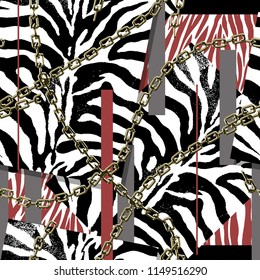 zebra print black background..Seamless pattern...animal print.
