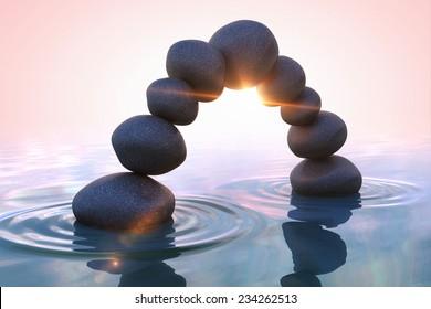 Zen stones. Arc