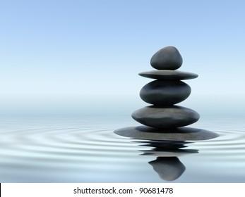 Zen stones balance peace silence concept