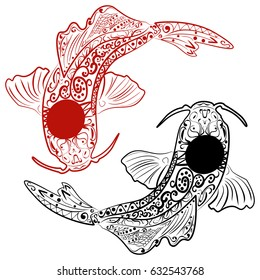 Koi Fish Yin Yang Images Stock Photos Vectors Shutterstock
