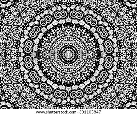 Zentangle Mandala Design Stock Illustration Royalty Free Stock