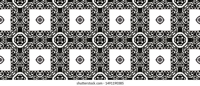Zentangle pattern. Seamless  texture.  Doodles style. Lace print. Geometry background. Vintage abstract pattern.