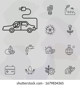 zero emission icon. Ecology icons universal set for web and mobile
