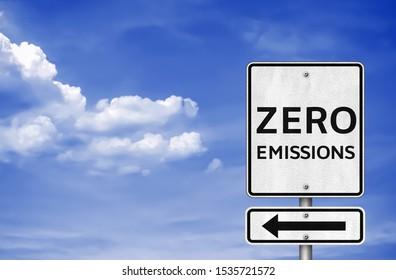 Zero Emissions - road sign information