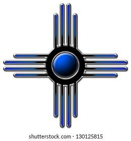 Zia Sun blue - Zia Pueblo - New Mexico
