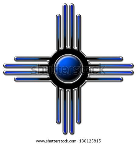 Zia Sun Blue Zia Pueblo New Stock Illustration 130125815 Shutterstock