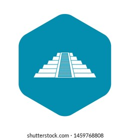 Ziggurat in Chichen Itza, Yucatan icon. Simple illustration of Ziggurat in Chichen Itza, Yucatan icon for web