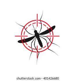 Zika mosquito illustration