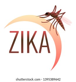 Zika virus icon. Cartoon of zika virus icon for web design isolated on white background