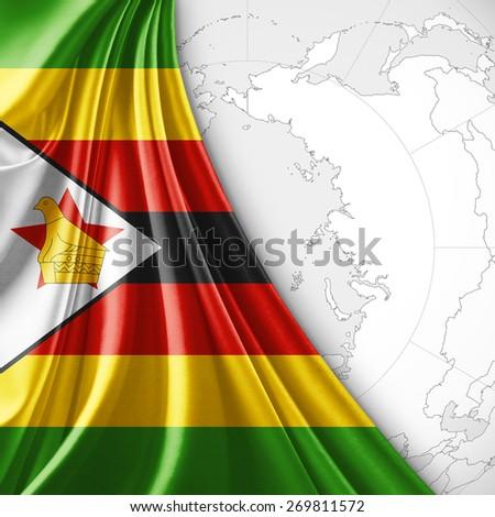 Royalty Free Stock Illustration Of Zimbabwe Flag World Map
