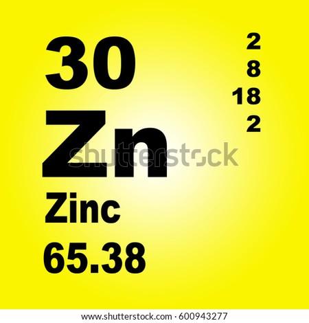 Zinc Periodic Table Elements Stock Illustration 600943277 Shutterstock