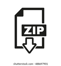 The ZIP file icon. Archive, compressed symbol. Flat  illustration