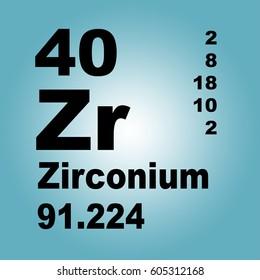 Zirconium periodic table elements stock illustration 605312018 zirconium periodic table of elements urtaz Gallery