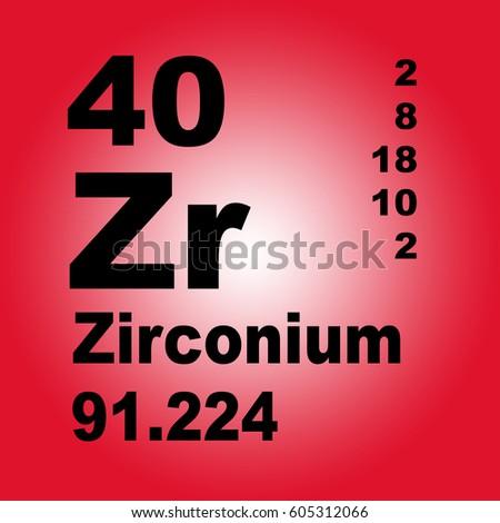 Zirconium Periodic Table Elements Stock Illustration 605312066
