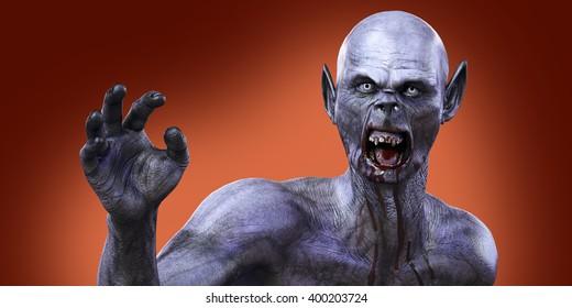 zombie vampire monster 3D render