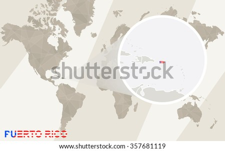 Zoom On Puerto Rico Map Flag Stock Illustration 357681119 - Shutterstock
