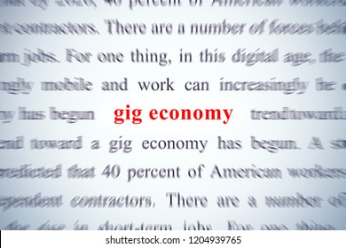 zoom on word gig economy