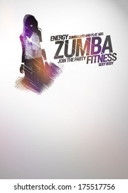 Zumba party or dance training invitation advert background with empty space