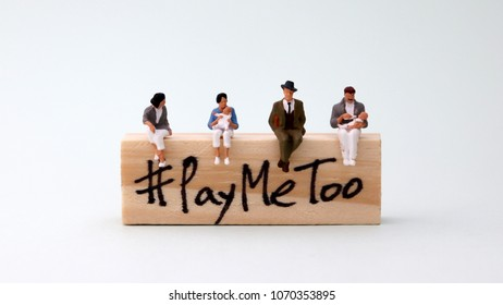 Woodenblockwritten#PayMeToo. Equallaborequalpayconcept.