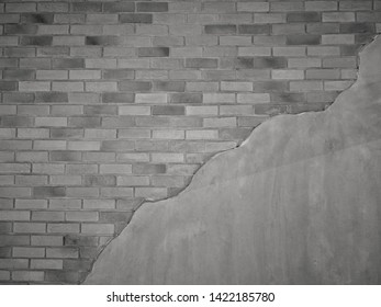 Th​e  view​s​ Cement​ wall​ with​ gray​ brick​ wall​ and​ background​ pattern​ and​ design​ interior​ and​ creative​ abstract​ use​ for​ copy​ space​ and​ content​ concept​
