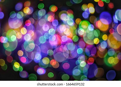 Abstract​ Light​ Muti​Color​ Bokeh​ ​Background