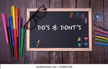 DO'?S & DONT'?S