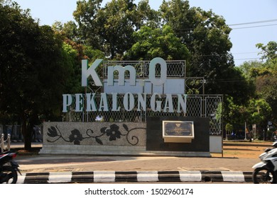 The 0 Kilometer monument, marking the location of the first point of a distance, was applied in the era of Dutch rule in Indonesia, Pekalongan - Central Java, 12 September 2019