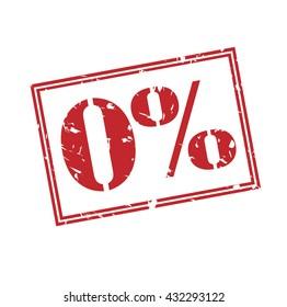 0% stamp