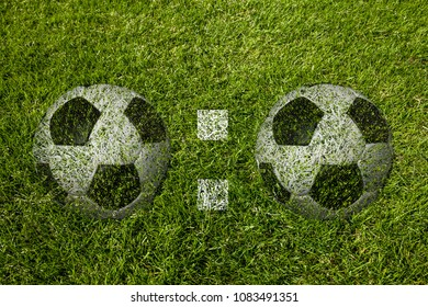 0:0 Scoring for on a soccer meadow