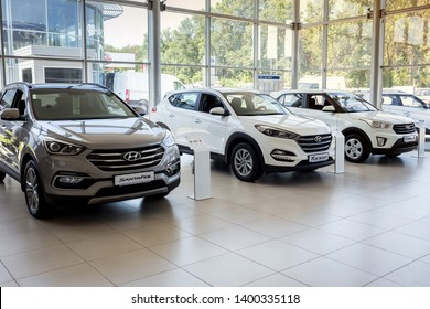 01 of August 2017 - Vinnitsa, Ukraine. Showroom of  Hyundai