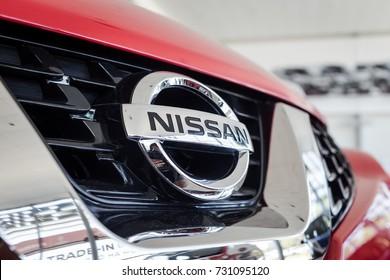 01 of August,2017 - Vinnitsa,Ukraine -  logo of the brand Nissan Qashqai