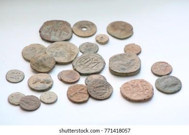 01 December 2017 Konya, Turkey  Antique Money - Shutterstock ID 771418057